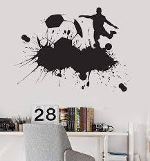Vinyl Wall Decal Soccer Sports Fan Kids Boys Room Garage Decor Sticker Wallstickers4you
