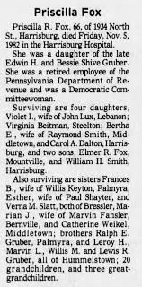 obituary of Priscilla Romaine Gruber - Newspapers.com