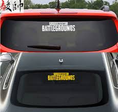 Playerunknown S Battlegrounds Car Stickers Pubg Skydiving English Logo Logo Blue Hole Geely Chicken Car Rear Gear