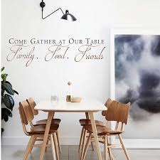 Come Gather At Our Table Decal Quotes Wall Sticker Vinyl Dining Room Wall Art Kitchen Quote Wall Decals Dining Room Decor 661q Room Decoration Dining Room Decorationwall Sticker Aliexpress