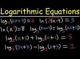 solving logarithmic equations with logs