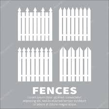 ᐈ Picket Fences Designs Stock Cliparts Royalty Free Picket Fence Drawings Download On Depositphotos