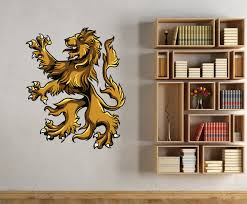 Medieval Lion Vinyl Wall Decal Medievallionuscolor004 Contemporary Wall Decals By Vinyl Disorder Inc