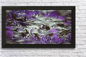 purple silver white swirls