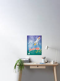 Rocket Man Poster Kids Room Boy S Room Space Theme A3 Poster Poster By Magental Redbubble