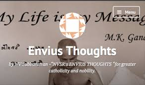 RAMAMURTHI ON ENVIUS THOUGHTS! Part V – Envius Thoughts