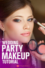 how to apply makeup for a wedding party