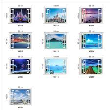 New Hot Free Shipping New Idea Creative Wall Papers Castle Seaview 3d Window The Wall Stickers Home Decoration For Living Room Creative Home Decor Olivia Decor Decor For Your Home And Office