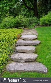 large rock stone steps and flagstone