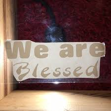 Craftables Wall Art We Are Blessed Vinyl Decal Poshmark