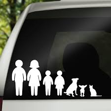Car Decals Dog Car Decal Family Car Decal Family Car Etsy