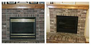 updating ugly fireplace for ing