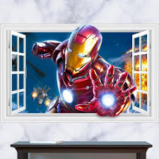 Iron Man Mask Wall Decal Truck Frame Art Light Uk For Car Ironman Triathlon Hanging Big Vamosrayos