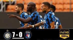 Inter vs Pisa 7-0 All Goals & Highlights 19/09/2020 - YouTube