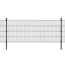 2d Garden Fence Panel Posts Outdoor Farm Field Enclosure 2008x2230 Mm 48 M Grey On Onbuy