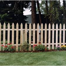 Wood Fencing 36 X 8 Spaced Gothic Picket Fence At Lowes Com