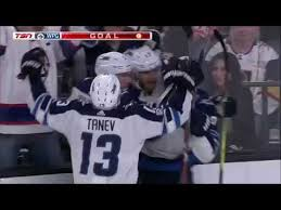Dmitri Kulikov passes to Lowry's great redirection goal (2017 ...