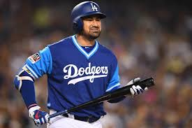 Adrian Gonzalez Seen on Field in Dodgers Uniform Before World ...