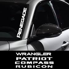 Windshield Sticker Vinyl Window Decal Car Sticker For Jeep Renegade Wrangler Jk Rubicon Cherokee Patriot Trail Hawk Compass Car Stickers Aliexpress
