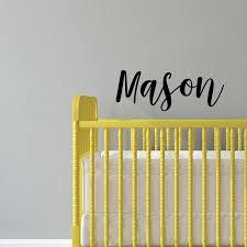 Boys Custom Name Vinyl Wall Art Sticker Decal Mason Custom Name 12 Imprinted Designs