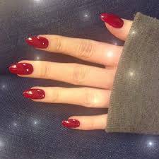 red oval nail designs best nail