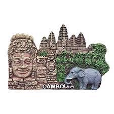 Kitchen Dining Angkor Wat Cambodia 3d Fridge Magnet Souvenirs Home Decor Cambodia Refrigerator Magnet Sticker Kitchen Accessories Brigs Com