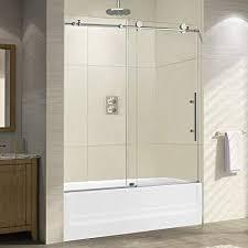 woodbridge frameless sliding bathtub