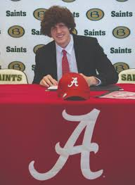 Briarcrest Christian School   Senior Richard Hunt Signs Letter of Intent to  Play Football at University of Alabama