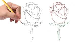 How To Draw A Rose Easy Dibujo Rosa رسم وردة بطريقة سهلة Youtube