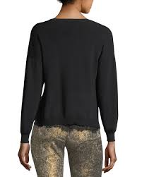 Alice + olivia iva long-sleeve crewneck sweater w/ lace tank womens black  [pA0BOWVK-lrdTEwBE] - $118.97 : Alice Olivia New York Buy Online, Best  Selling Clearance