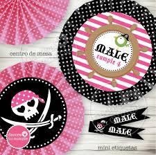Kit Imprimible Pirata Nena Rosa Decora Tu Cumple