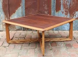 vintage lane square coffee table x base