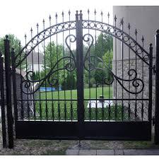 Garden Grill Entrance Gate Villa Wrought Iron Driveway Gate Buy Iron Gate Metal Gates Driveway Gate Product On Alibaba Com