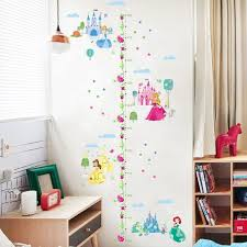 Disney Princess Growth Height Chart Measure Wall Sticker Baby Girl Room Gift Kids Room Wall Stickers Wall Stickers Baby Girl Girls Room Decals