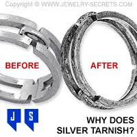 why does silver tarnish and turn black
