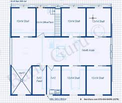 5 stall horse barn plans with 2 bed