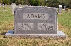 Effie Morgan Adams (1887-1981) - Find A Grave Memorial