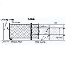 Aleko Rear Gate Wheel Roller Guide For Chain Link Fence Gate Part 5 F Garage Department