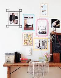 modern wall art frames with washi tape