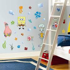 Amazon Com 30 Piece Nickelodeon Spongebob Squarepants Wall Decal Set Kids Room Home Decor Toys Games