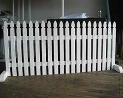 Free Standing Picket Fencing Picket Fencing Portable Fence Backyard Fences Modern Fence