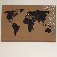 World Map Cork Board Cork Board Map Cork Board World Map