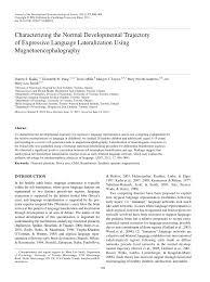 PDF) Characterizing the Normal Developmental Trajectory of ...