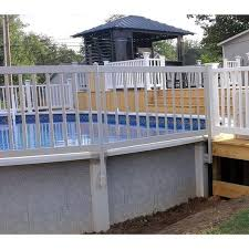 Kit 1a Resin Above Ground Pool Fence Kit 8 Sections