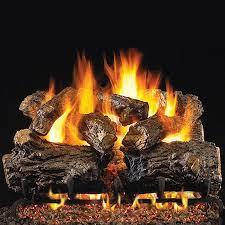 rustic oak ansi vented gas log set
