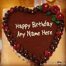 top happy birthday chocolate cake with name
