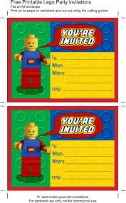 Printable Lego Birthday Invitations Scribd Crear Invitaciones