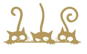 Naughty Cute Cats Vinyl Sticker Decals F Buy Online In Aruba At Desertcart