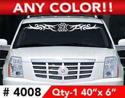 New York Yankees Tribal Windshield Decal Sticker 44x5 Ebay
