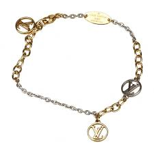 logomania bracelet gold silver